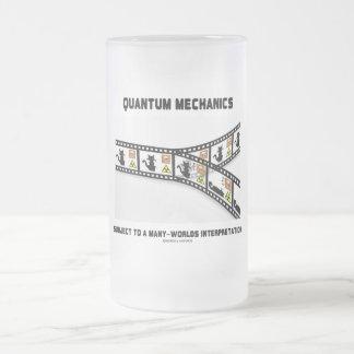 Quantum Mechanics Many Worlds Interpretation 16 Oz Frosted Glass Beer Mug