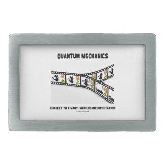 Quantum Mechanics Many Worlds Interpretation Rectangular Belt Buckle