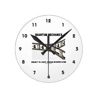 Quantum Mechanics Many Worlds Interpretation Round Clock