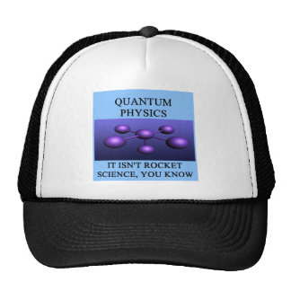 quantum mechanics physics joke trucker hat
