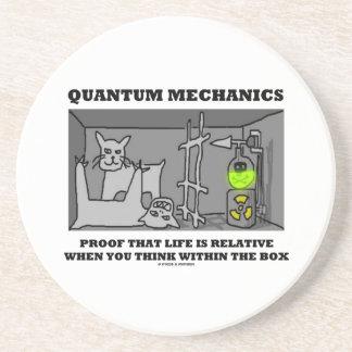 Quantum Mechanics Proof That Life Is Relative Beverage Coasters