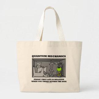 Quantum Mechanics Proof That Life Is Relative Jumbo Tote Bag