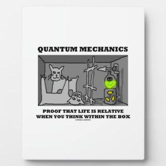Quantum Mechanics Proof That Life Is Relative Plaque
