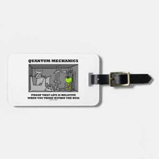 Quantum Mechanics Proof That Life Is Relative Travel Bag Tags