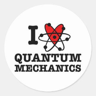 Quantum Mechanics Round Stickers