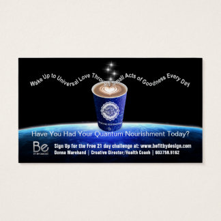 Quantum Nourishment - 21 Day Perspective Challenge Business Card