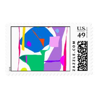 Quantum Particle Beautiful Debris Nature Invention Postage Stamps