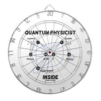 Quantum Physicist Inside (Higgs Field Higgs Boson) Dartboard With Darts