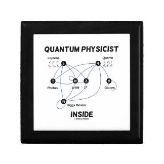 Quantum Physicist Inside (Higgs Field Higgs Boson) Keepsake Box