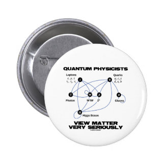 Quantum Physicists View Matter Very Seriously Pinback Buttons