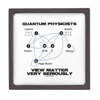 Quantum Physicists View Matter Very Seriously Jewelry Box