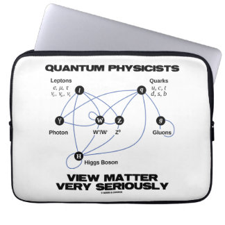 Quantum Physicists View Matter Very Seriously Laptop Computer Sleeve