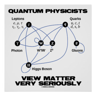 Quantum Physicists View Matter Very Seriously Poster