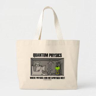 Quantum Physics Where Physics And Metaphysics Meet Large Tote Bag