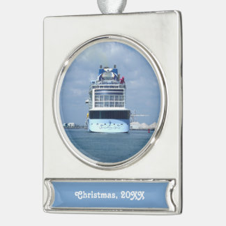Quantum Stern Dated Silver Plated Banner Ornament