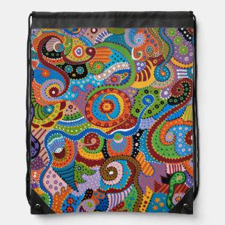 Quantum Strands Drawstring Bag