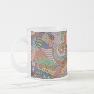 Quantum Strands Frosted Glass Coffee Mug