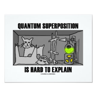 Quantum Superposition Is Hard To Explain (Physics) Card