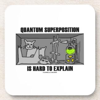 Quantum Superposition Is Hard To Explain (Physics) Beverage Coasters