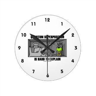 Quantum Superposition Is Hard To Explain (Physics) Round Clock