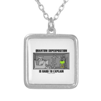 Quantum Superposition Is Hard To Explain (Physics) Silver Plated Necklace