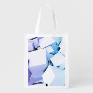 Quantum Technology as a Abstract Concept Art Grocery Bags