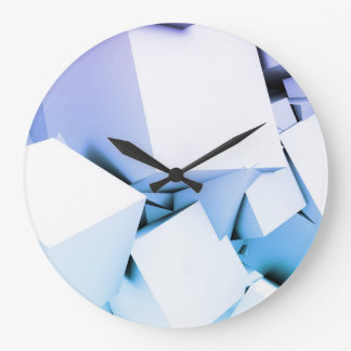 Quantum Technology as a Abstract Concept Art Large Clock