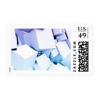Quantum Technology as a Abstract Concept Art Postage