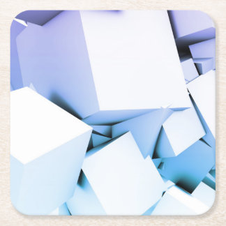 Quantum Technology as a Abstract Concept Art Square Paper Coaster