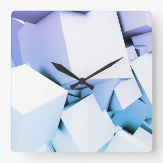 Quantum Technology as a Abstract Concept Art Square Wall Clock