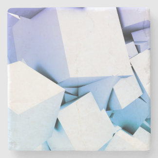 Quantum Technology as a Abstract Concept Art Stone Coaster