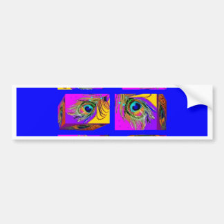 Quantum Theory Peacock Feather Cubes by Sharles Bumper Sticker