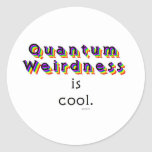 Quantum Weirdness Round Stickers