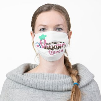 Quarantine Baking Queen Adult Cloth Face Mask
