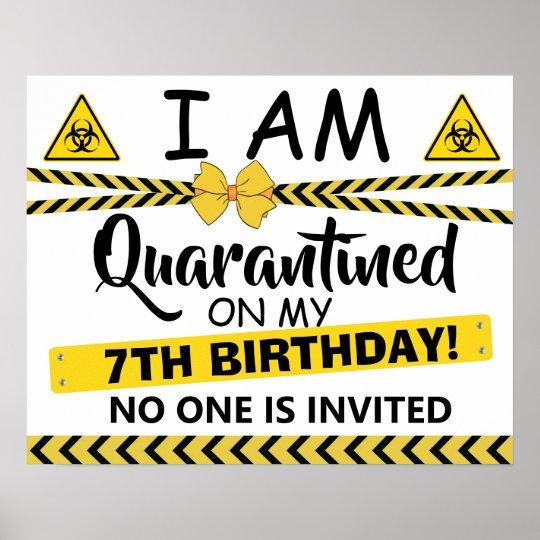 Quarantine Birthday Banner Isolation Poster Sign