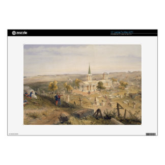 Quarantine Cemetery and Church, plate from 'The Se Decal For Laptop