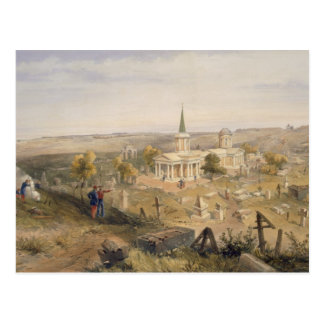 Quarantine Cemetery and Church, plate from 'The Se Postcard