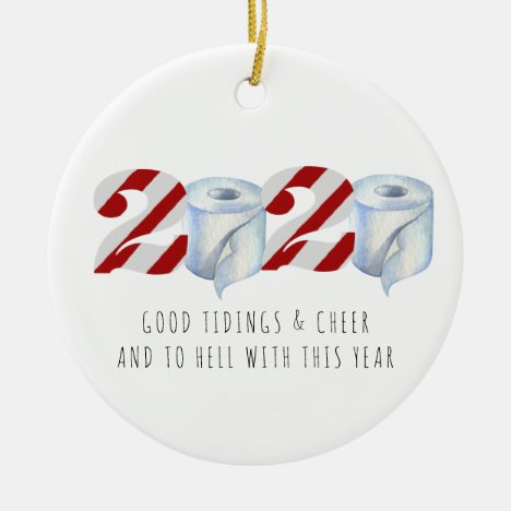 Quarantine Christmas | Funny 2020 Commemorative Ceramic Ornament