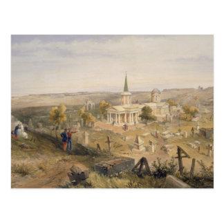 Quarantine el cementerio y la iglesia, placa 'del postales