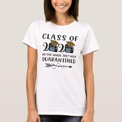 quarantined toilet paper class of 2020 graduation T_Shirt
