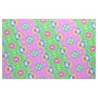 Quaraun The Insane Style Pink & Green Gypsy Cloth Fabric