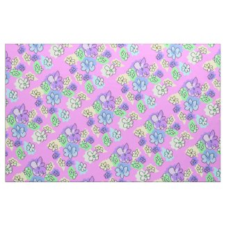 Quaraun The Insane Style Pink & Purple Gypsy Cloth Fabric