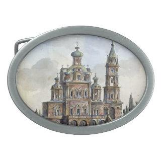 Quarenghi-Iglesia de Giacomo de la suposición en P Hebillas Cinturon Ovales