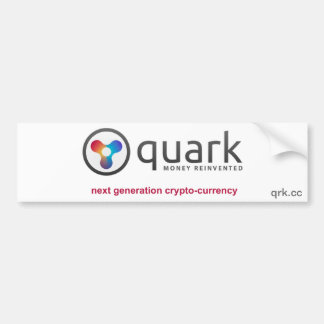 Quark Crypto Currency Bumper Sticker   Quarkcoin