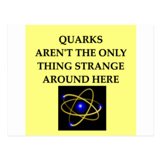 quark joke postcard