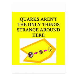 QUARK physics joke Postcard