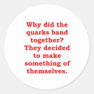 quarks classic round sticker