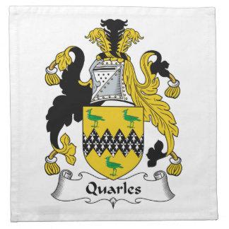 Quarles Family Crest Napkins