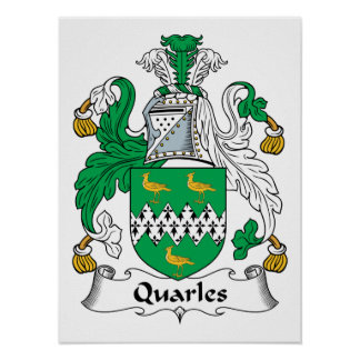 Quarles Family Crest Print