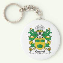 Quarrel Family Crest Keychain